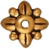 Bead Cap Leaf 8mm Antique Gold